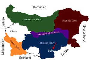 Eolis på den bulgariska vinkartan